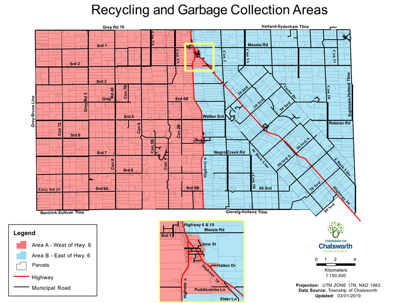 Recycling and Garbage Map Chatsworth