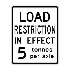 load restriction limit per axle