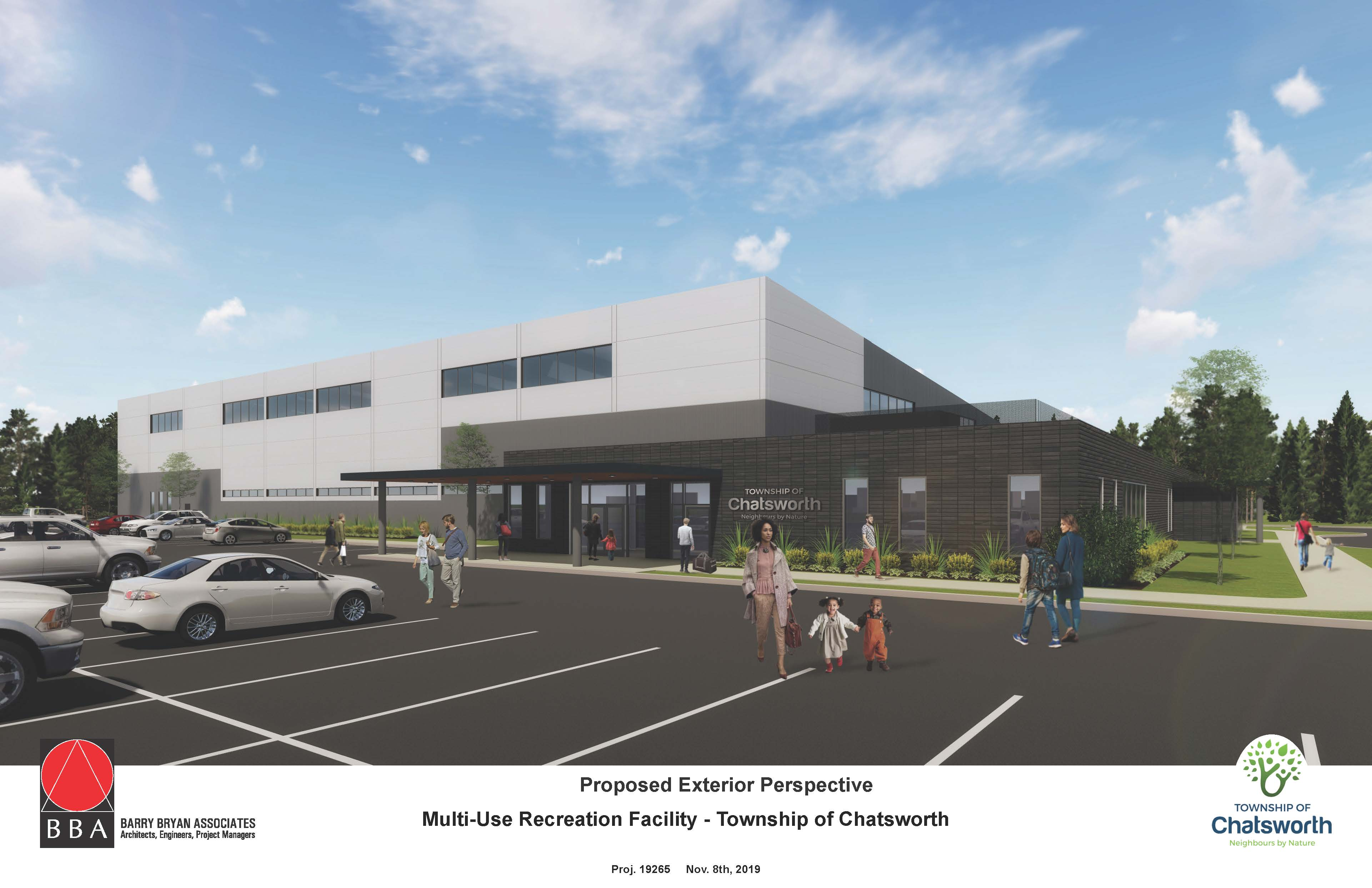 Chatsworth Community Hub Proposed Interior Perspective