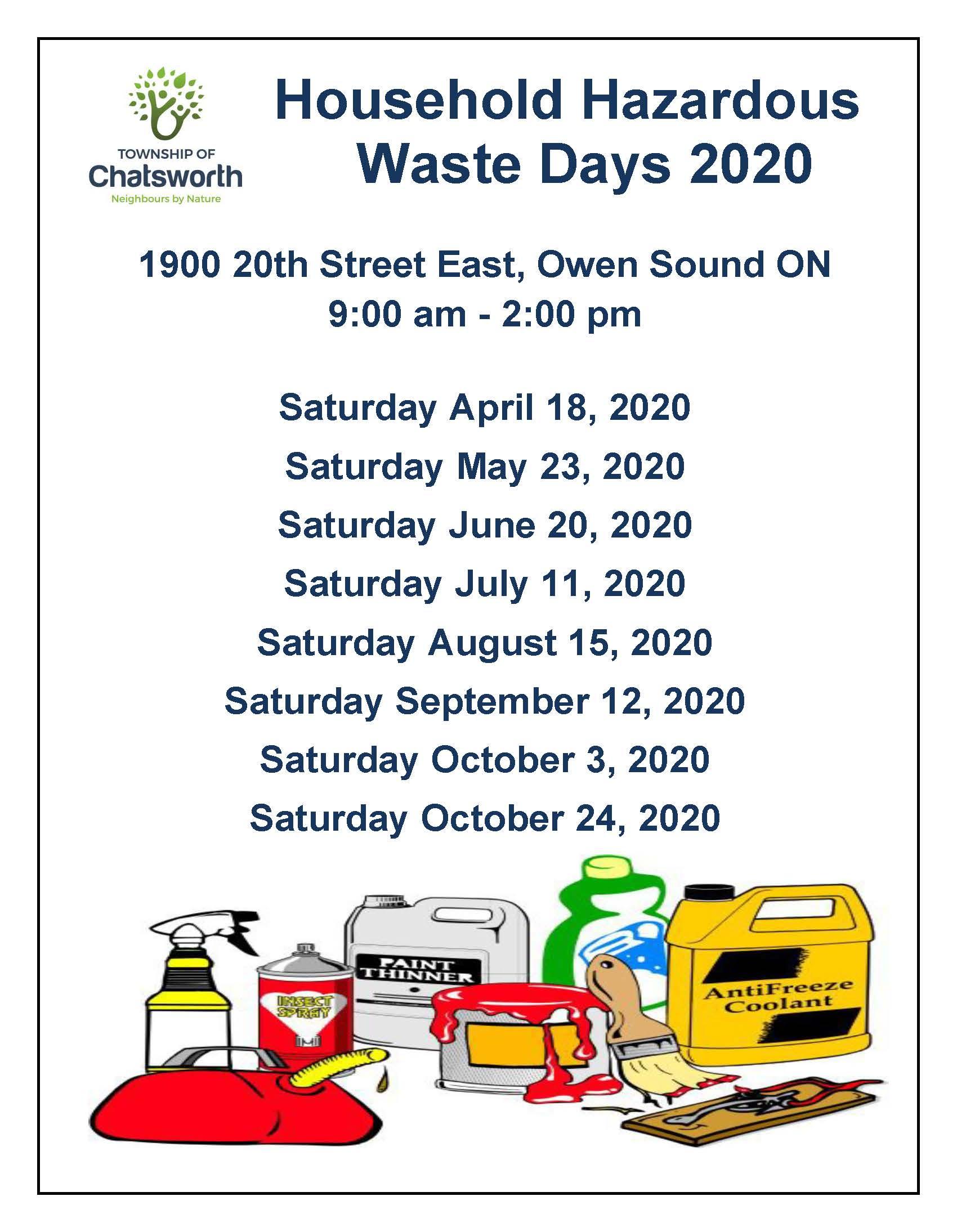 2020 Household Hazardous Waste Days