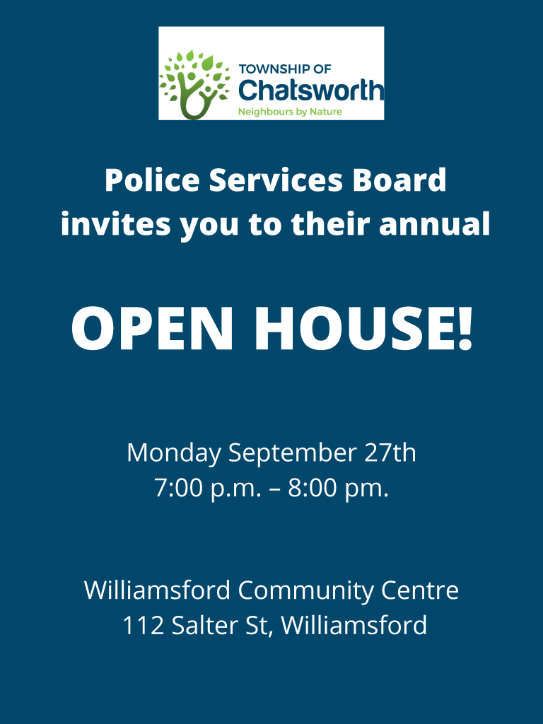 Township of Chatsworth Police Services Board Open House 2021